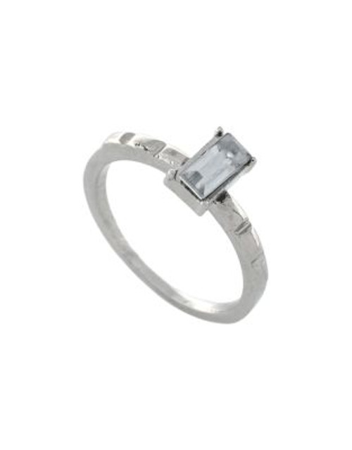 Bcbgeneration Embellished Baguette Ring - SILVER - 7