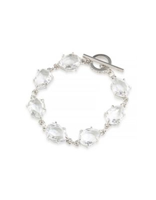 Carolee Triple-Row Crystal Bracelet - SILVER