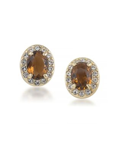 Carolee Desert Oasis Stud Pierced Earrings - LIGHT BROWN