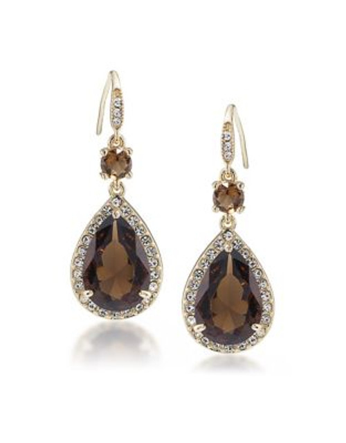 Carolee Desert Oasis Teardrop Pierced Earrings - LIGHT BROWN