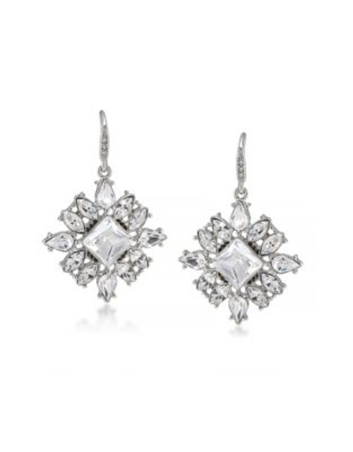 Carolee Broadway Lights Cluster Drop Earrings - SILVER