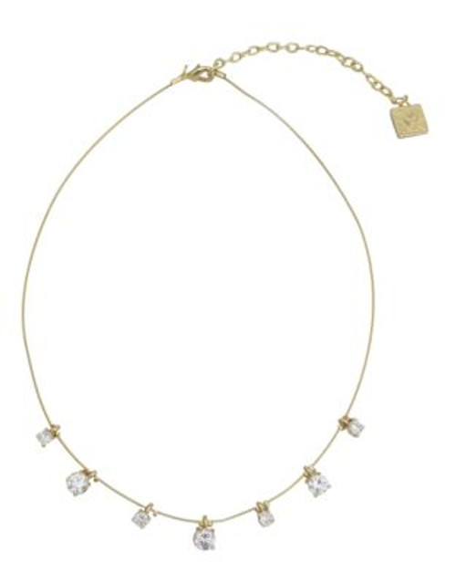 Anne Klein Metal Crystal Collar Necklace - GOLD