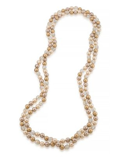 Carolee Cosmic Reflections 72 Inch Gold Tonal Rope Necklace - GOLD