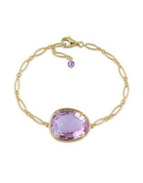 Concerto Amethyst and Yellow Sterling Silver Bracelet - AMETHYST