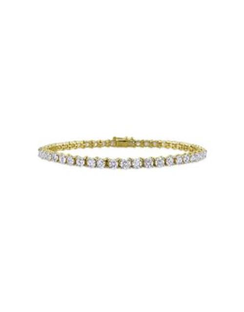 Concerto 6 CT Diamond TW 14k Yellow Gold Bracelet - DIAMOND