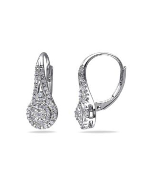 Concerto .25 CT Diamond and Sterling Silver Halo Earrings - DIAMOND