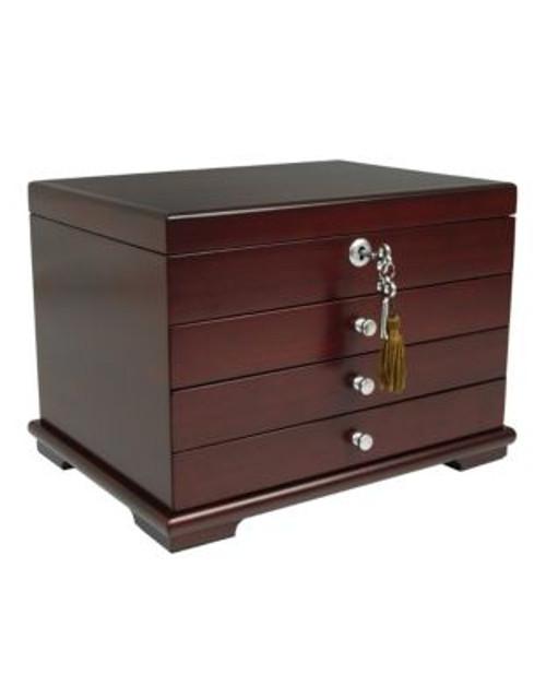 Gunther Mele Genevieve Three-Drawer Jewellery Box - CHERRY