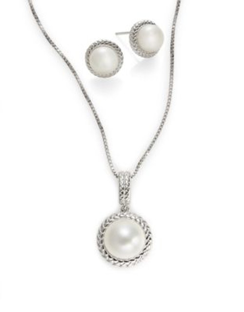 Fine Jewellery Pearl Earring and Necklace Set - PEARL