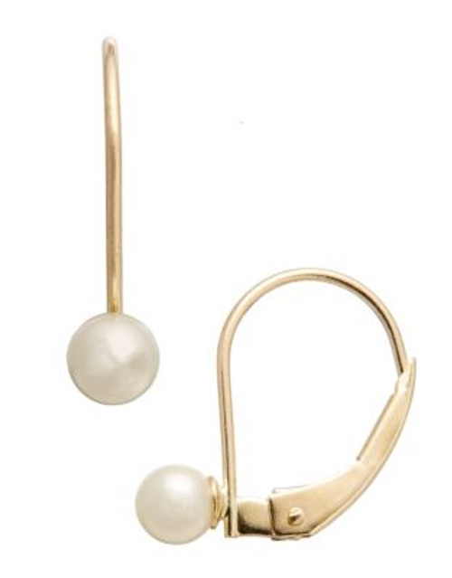 Fine Jewellery Girls 14K Lever Back Pearl Earrings - WHITE