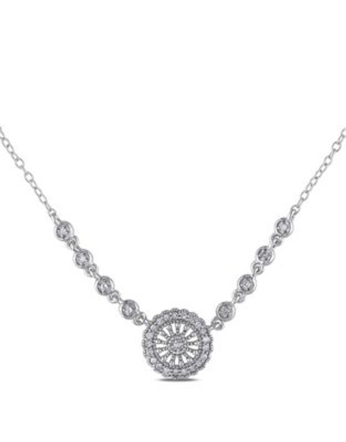 Concerto .16 CT Diamond and Sterling Silver Locket Necklace - DIAMOND