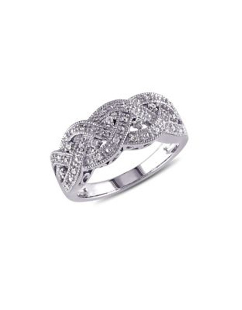 Concerto .08 CT Diamond and Sterling Silver Vintage Ring - DIAMOND - 8