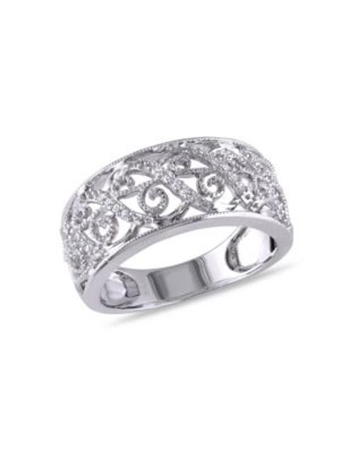 Concerto .1 CT Diamond TW 14k White Gold Fashion Ring - DIAMOND - 5