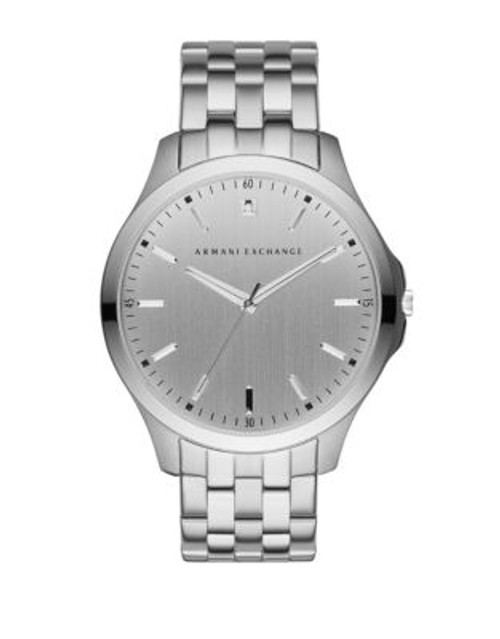 Armani Exchange Analog Silvertone Hampton Watch - SILVER
