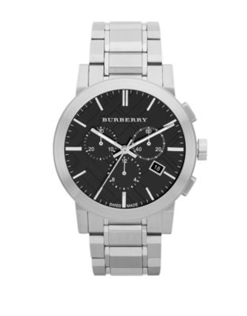 Burberry The City Silvertone Chronograph Watch - SILVER