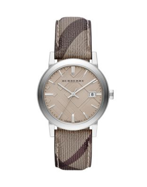Burberry The City Analog Check Watch - BEIGE