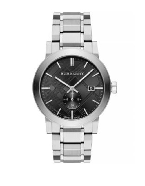 Burberry Mens Analog The City Watch - BLACK