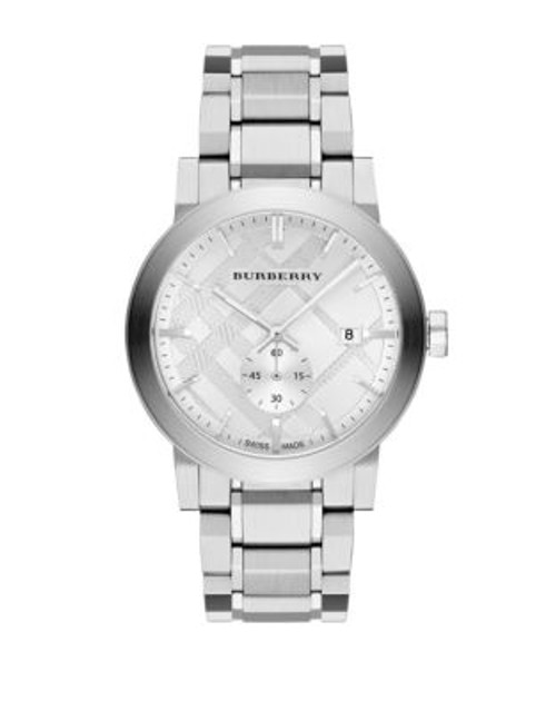 Burberry Mens Analog The City Watch - SILVER