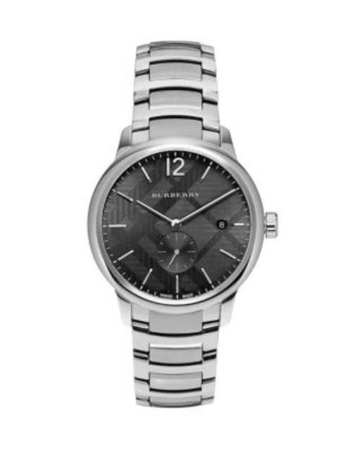 Burberry Stainless Steel Classic Round Watch - SILVER