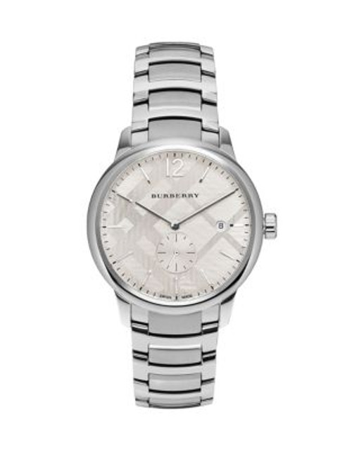 Burberry Stainless Steel Classic Round Analog Watch - SILVER