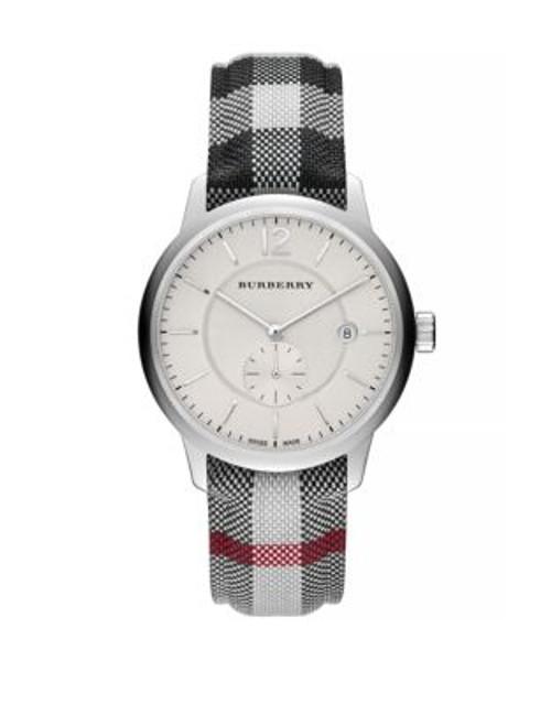 Burberry Classic Round Silvertone Watch - MULTI