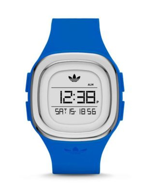 Adidas Denver Digital Silicone Strap Watch - BLUE