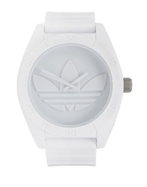 Adidas Santiago XL Monochrome Watch - WHITE
