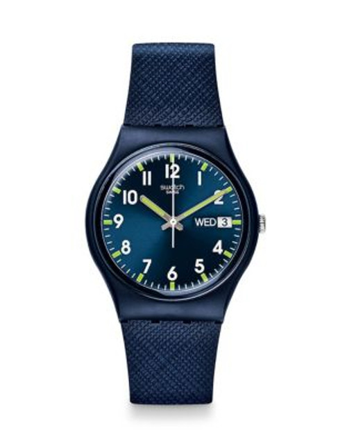 Swatch Analog Silicone Watch - BLUE