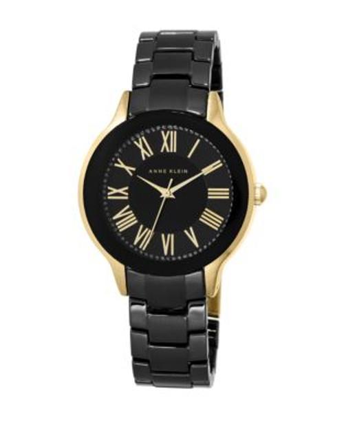 Anne Klein Analog Stainless Steel Watch - BLACK