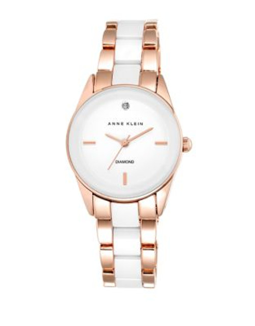 Anne Klein Ladies Rose Gold Tone Analog Watch AK-1974WTRG - ROSE GOLD