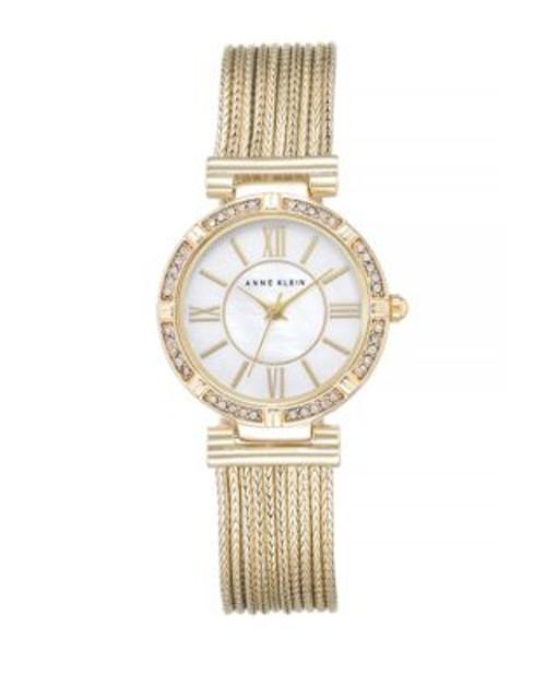 Anne Klein Analog Goldtone Mesh Bracelet Watch - GOLD