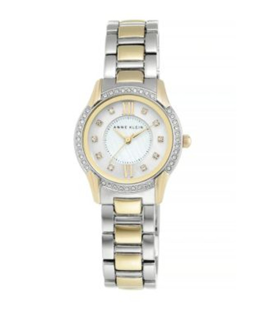 Anne Klein Analog Two-Tone Crystal Watch - TWO TONE