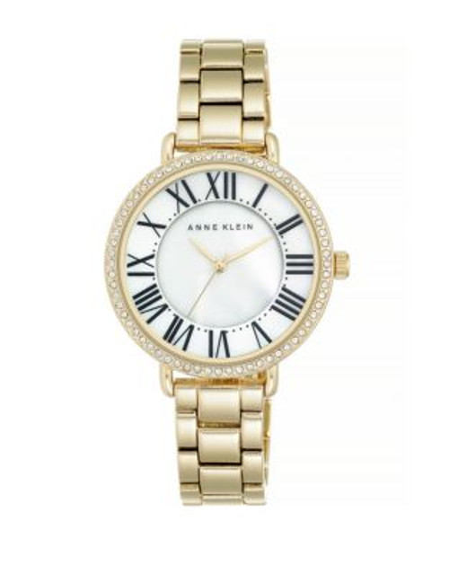 Anne Klein Analog Two-Tier Dial Watch - GOLD