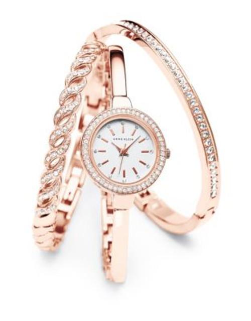 Anne Klein Analog Rosegold Tone Bangle Bracelet Watch - ROSE GOLD