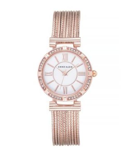 Anne Klein Analog Rose Goldtone Mesh Bracelet Watch - ROSE GOLD