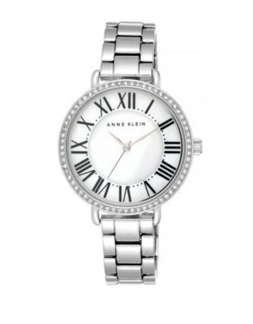 Anne Klein Analog Silvertone Bracelet Watch - SILVER