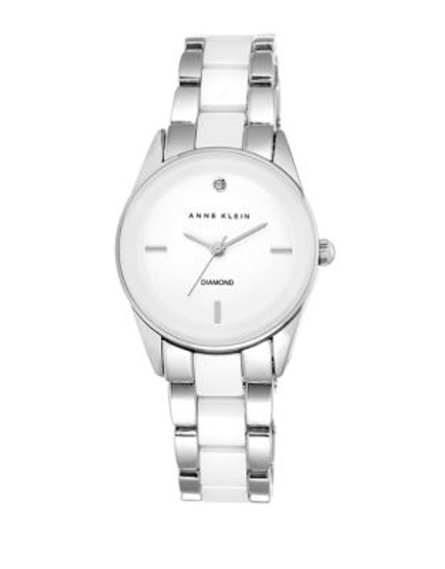 Anne Klein Ladies Silver Tone Analog Watch AK-1975WTSV - SILVER