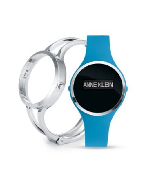 Anne Klein Ladies Activity Tracker Fashionfit Watch In Turquoise/Silver Ak-2011TFIT - BLUE