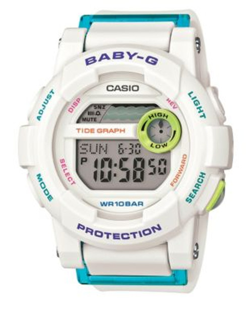 Casio Baby-G Digital Tide Graphs Watch - WHITE