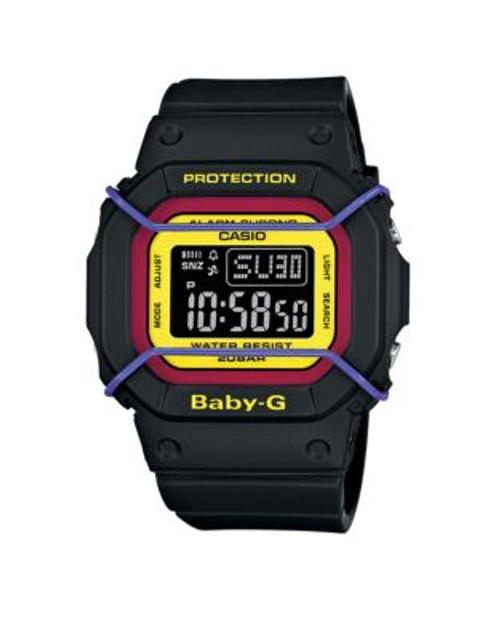 Casio Digital Baby G Retro Watch - BLACK