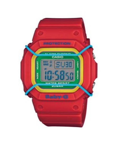 Casio Digital Baby G Retro Watch - RED