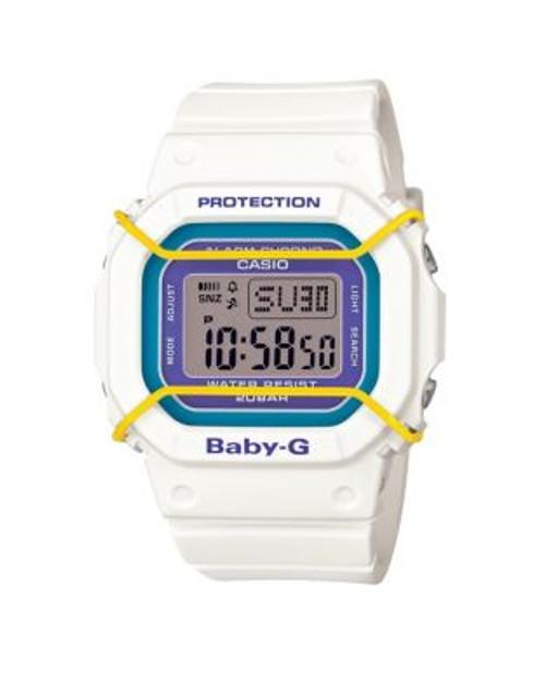 Casio Digital Baby G Retro Watch - WHITE