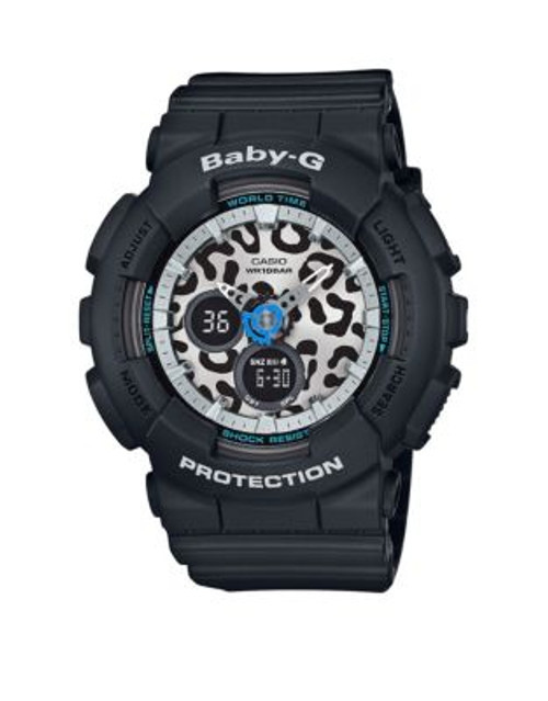 Casio Baby G Leopard Digital-Analog Watch - BLACK