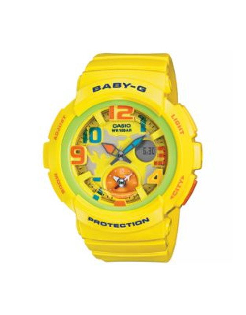 Casio Analog Baby G Dual World Time Watch - YELLOW