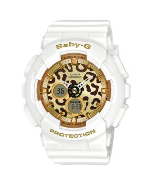 Casio Baby G Leopard Digital-Analog Watch - WHITE