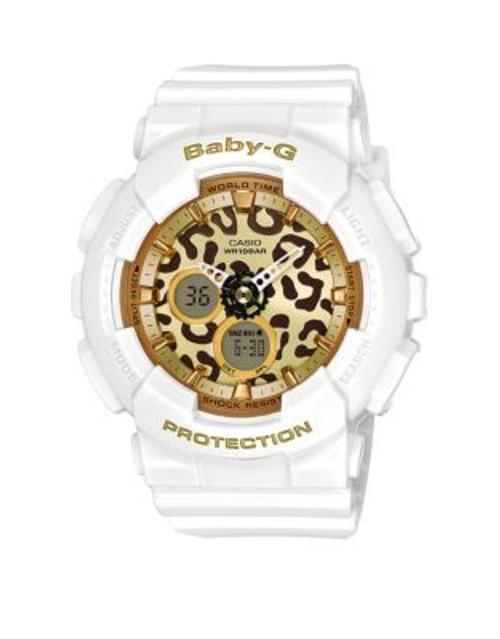 Casio Baby G Leopard Digital-Analog Watch - WHITE