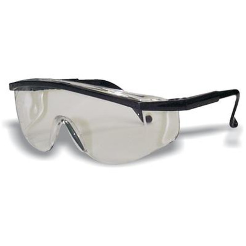 Black Frame Safety Glass Clear Lens