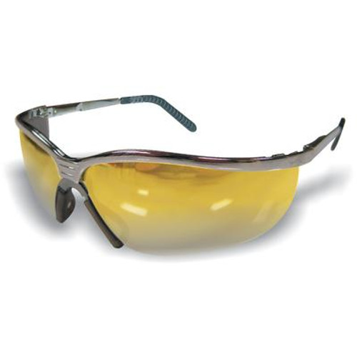 Metal Safety Glass Amber Lens