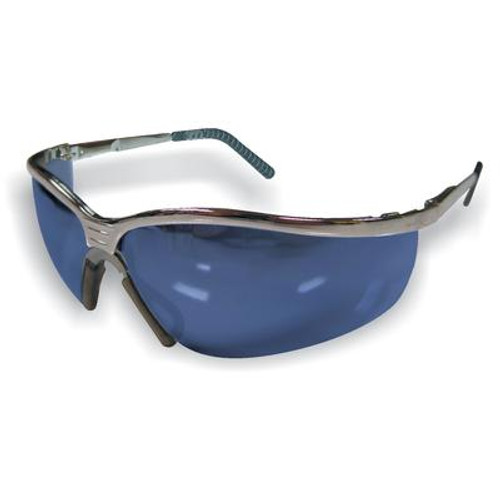 Metal safety glass blue mirrored lens