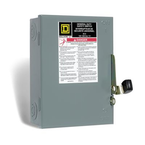 30 Amp General Purpose Double Pole Safety Switch