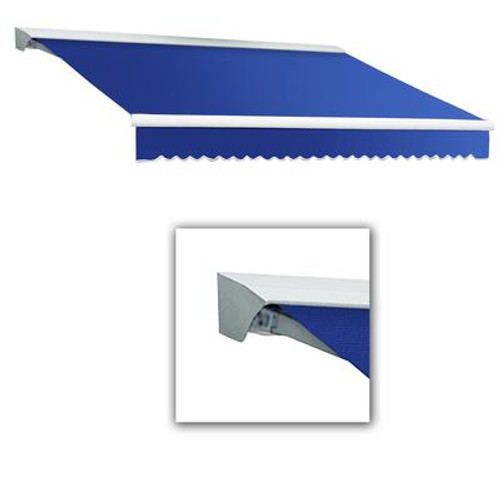 10 Feet DESTIN (8 Feet Projection) Motorized (left side) Retractable Awning with Hood - Bright Blue